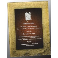 7.75X9.75  Gold/BUR Acrylic plaque