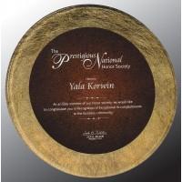 8.5''  Round  Gold/BURG Acrylic plaque