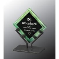 7.5''  Green GLXY Acrylic W/STAND