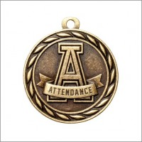 "2"" Scholastic Medal ATTENDANCE"