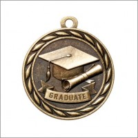 "2"" Scholastic Medal GRADUATE"