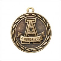 "2"" Scholastic Medal A HONOR ROLL"
