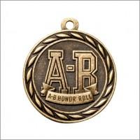 "2"" Scholastic Medal A-B HONOR ROLL"