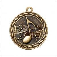 "2"" Scholastic Medal MUSIC"