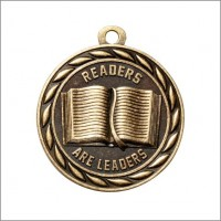 "2"" Scholastic Medal READERS ARE LEADERS"
