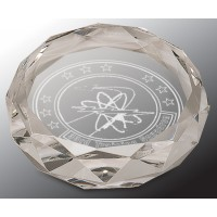 """3"""" Clear Round Crystal Paperweight"""