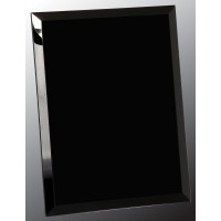 8X10  Black MIRROR  Glass PLQ