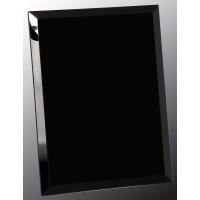 9X12  Black MIRROR  Glass PLQ