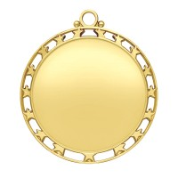 2 1/2 Bright Gold Star Insert Medallion