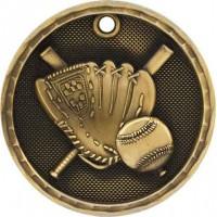 2 inch 3D Baseball Medal