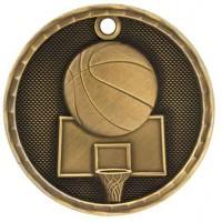 2 inch 3D Basketball Medal