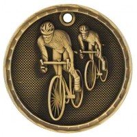 2 inch 3D Bicycling Medal