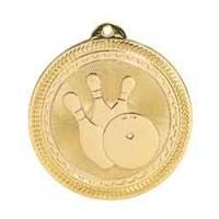 2 inch  Bowling Laserable BriteLazer Medal