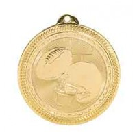 2 inch Football Laserable BriteLazer Medal