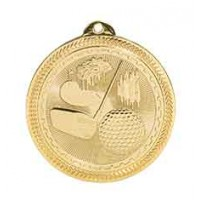2 inch Golf Laserable BriteLazer Medal