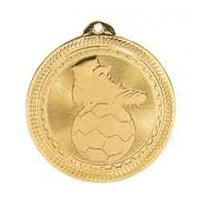 2 inch Soccer Laserable BriteLazer Medal