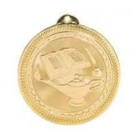 2 inch Lamp of Knowledge Laserable BriteLazer Medal