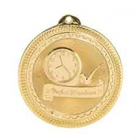 2 inch Perfect Attendance Laserable BriteLazer Medal