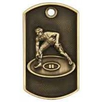 2 inch 3D Wrestling Dog Tag