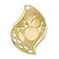 2 1/4 inch Bowling Laserable Flame Medal
