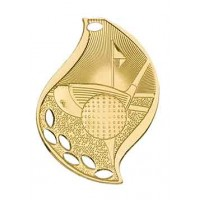 2 1/4 inch Golf Laserable Flame Medal