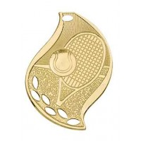2 1/4 inch Tennis Laserable Flame Medal