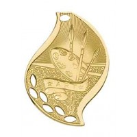 2 1/4 inch Art Laserable Flame Medal