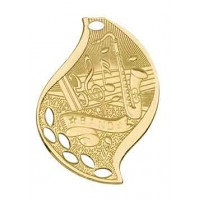 2 1/4 inch Band Laserable Flame Medal