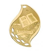 2 1/4 inch Reading Laserable Flame Medal
