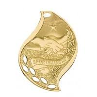 2 1/4 inch Sportsmanship Laserable Flame Medal