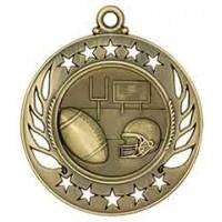 2 1/4 inch Football Galaxy Medal