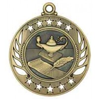 2 1/4 inch Lamp of Knowledge Galaxy Medal