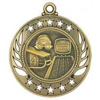2 1/4 inch Swimming Galaxy Medal