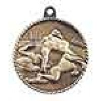 2 inch Football High Relief Medal
