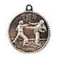 2 inch Karate High Relief Medal