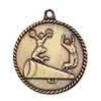 2 inch Cheerleading High Relief Medal