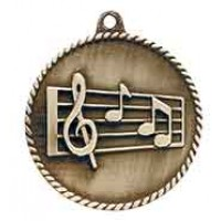 2 inch Music High Relief Medal