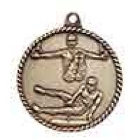 2 inch Male Gymnastics High Relief Medal