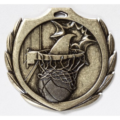 2 1/4 inch Basketball Burst Medal