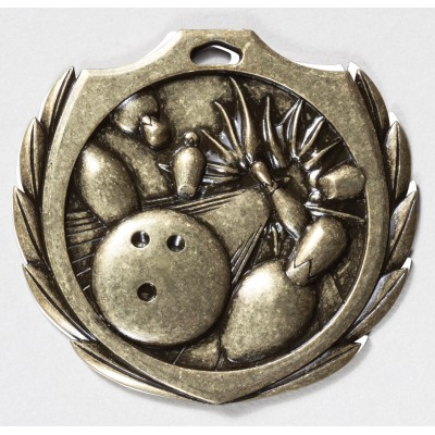 2 1/4 inch Bowling Burst Medal