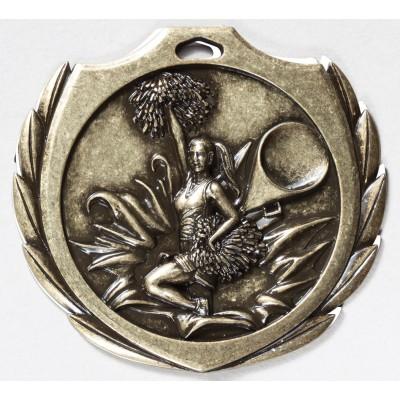 2 1/4 inch Cheer Burst Medal