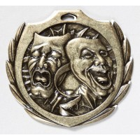 2 1/4 inch Drama Burst Medal