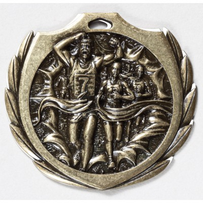 2 1/4 inch Cross Country Burst Medal