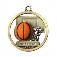 """2"""" Basketball Game Ball Medal"""