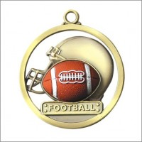 "2"" Football Game Ball Medal"
