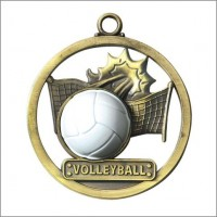 "2"" Volleyball Game Ball Medal"