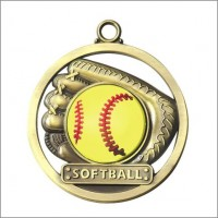 "2"" Softball Game Ball Medal"