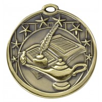 "2"" Lamp of Knowledge Star Medal"