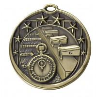 "2"" Swimming Star Medal"