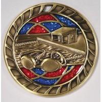 2.5 Inch Swimming Glitter Medal